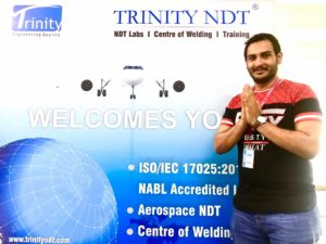 Rayan Mansoor, Saudi Arabia National at TRINITY NDT Training Courses India - A review